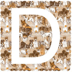 D is for Dog, Clare Halifax, Alphabet Art, Limited Edition Print, Animal Art