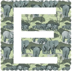 E is for Elephant, Clare Halifax, Limited Edition Prints, Alphabet Art, Gift Art