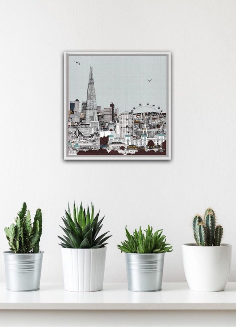 Eyes Up Front, Clare Halifax, Illustration Art, Cityscape Print, London Art For Sale 1