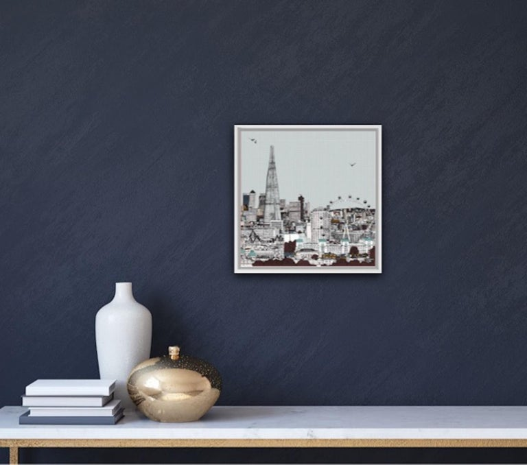 Eyes Up Front, Clare Halifax, Illustration Art, Cityscape Print, London Art For Sale 2