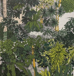 Tropical Overlook, Barbican By Clare Halifax, Limited edition Botanical Print