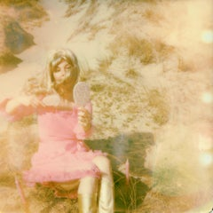 A Pink Afternoon - Contemporary, Polaroid, Woman, 21st Century, Psychiatry