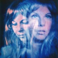 Blue Light - Contemporary, Polaroid, Woman, 21st Century