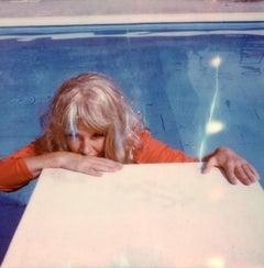 Pondering at the Pool - Contemporary, Polaroid, Photograph, Figurative, Portrait