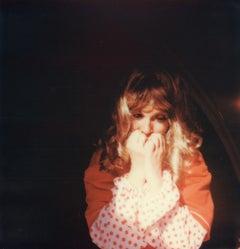The Red Room (40x40cm)- Contemporary, Polaroid, Photograph, Figurative, Portrait