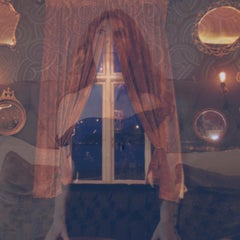 Visions at the Mirrored Palace - Contemporary, Polaroid, Woman, Psychiatry