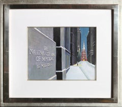 National City Bank of New York, 55 Wall Street, Painting by Clarence Carter