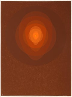 Brown Mandala, Silkscreen by Clarence Holbrook Carter
