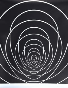"""""""Concentric Space (Silver)"""", Silkscreen by Clarence Holbrook Carter"""