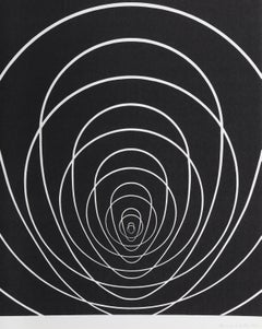 """""""Concentric Space (White)"""", Silkscreen by Clarence Holbrook Carter"""