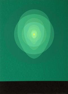 Green Mandala, Silkscreen by Clarence Holbrook Carter