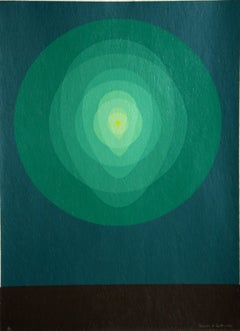 Icon Pyrophorous, Silkscreen by Clarence Holbrook Carter 1969