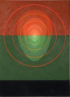 Mandala No. 2, Silkscreen by Clarence Holbrook Carter 1968