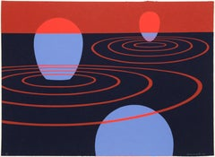 Transection I, Silkscreen by Clarence Carter 1971