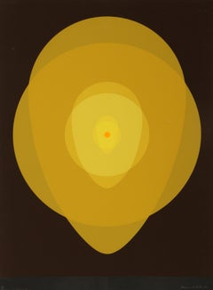 Yellow Mandala, Silkscreen by Clarence Holbrook Carter
