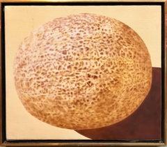 Photorealism Still Life Acrylic Painting of Fruit Photo Realist Melon