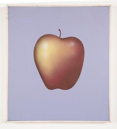 Vintage Modernist Fruit Still Life Exhibited Original Surreal Pop Art Painting