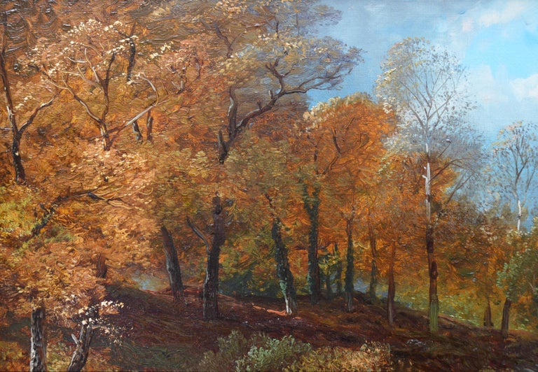 Creeping Steads, River Twiss - 19th Century Yorkshire Landscape Oil Painting For Sale 3