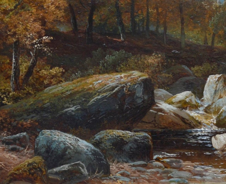 Creeping Steads, River Twiss - 19th Century Yorkshire Landscape Oil Painting For Sale 4