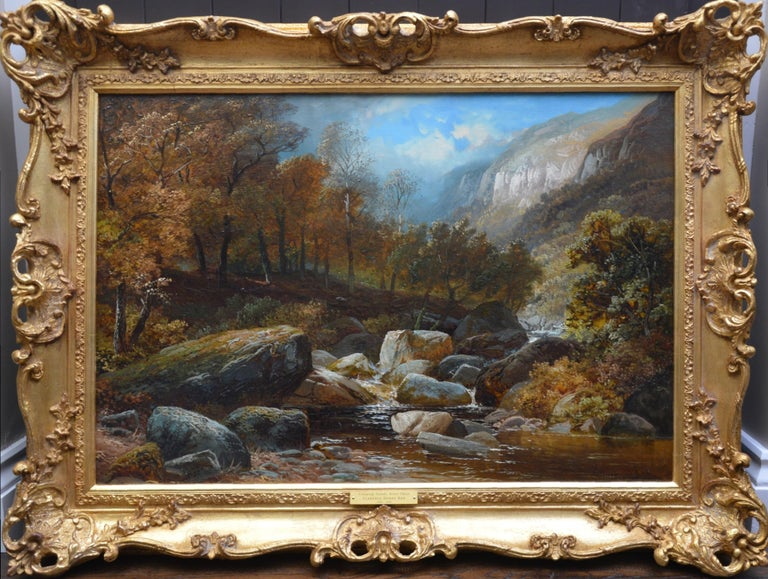 Clarence Roe Landscape Painting - Creeping Steads, River Twiss - 19th Century Yorkshire Landscape Oil Painting