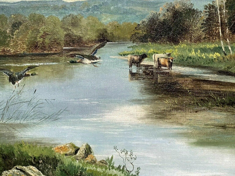 Artist: Clarence Roe (British, 1850-1909) signed  Title: The Trossachs  Medium: oil painting, on canvas, framed  Size:       frame: 25.5 x 36 inches            painting: 20 x 30 inches          Provenance: private collection, England  Condition: The