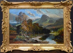 Loch Katrine - 19th Century Landscape Oil Painting of the Scottish Highlands