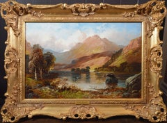 Rydal Water, Westmorland - 19th Century Landscape Oil Painting of Lake District