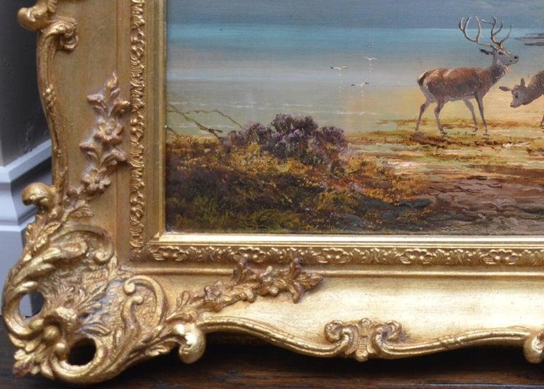 Sunset, Loch Katrine - 19th Century Scottish Landscape Oil Painting  For Sale 8