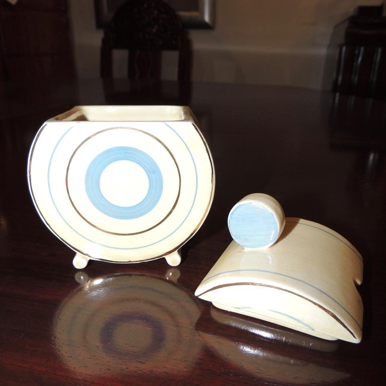 Mid-20th Century Clarice Cliff Art Deco Tea and Coffee Set for Eight For Sale