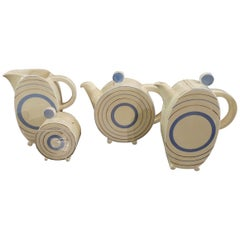 Clarice Cliff Art Deco Tea and Coffee Set for Eight