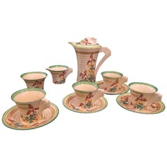 Clarice Cliff Bizarre Ware Coffee Set