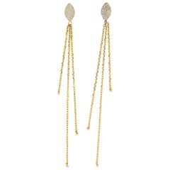 Clarissa 18 Karat Yellow Gold Natural Pave VS+ Diamond Earrings