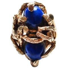 Vintage 14 Karat Gold, Lapis Ring