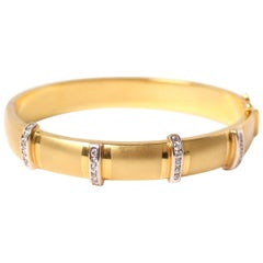 Clarissa Bronfman Antique 18 Karat Gold and Diamond Bracelet