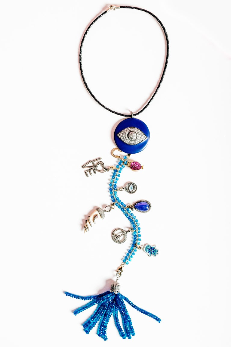 Clarissa Bronfman 'Blue Is the Warmest Color' Symbol Tree Necklace 4