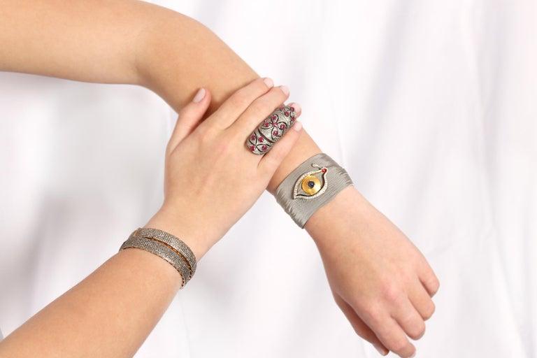 Contemporary Clarissa Bronfman Diamond Bracelet For Sale
