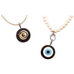 Clarissa Bronfman Ebony, Enamel, Diamond  Evil Eye Pendant