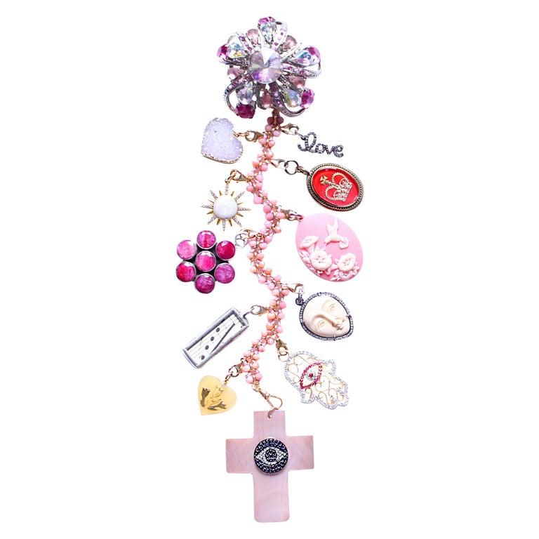 "Clarissa Bronfman ""Pink Martini"" Symbol Tree Necklace For Sale"