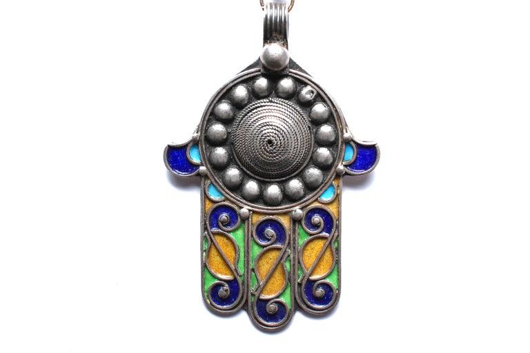 Clarissa Bronfman Signature Antique Moroccan 'Casablanca' Symbol Tree Necklace In New Condition For Sale In New York, NY