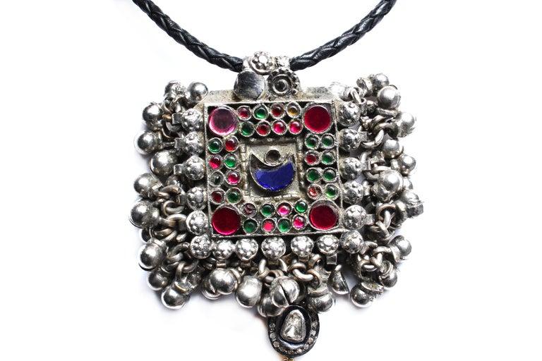 Women's or Men's Clarissa Bronfman Signature Antique Moroccan 'Casablanca' Symbol Tree Necklace For Sale