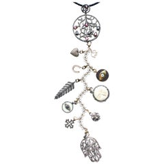 Clarissa Bronfman Signature Bone, Diamond, Ebony 'Winter Wonderland' Symbol Tree