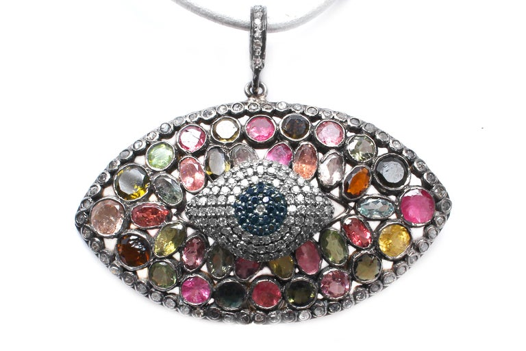Contemporary Clarissa Bronfman Signature 'Eye Am Adored' Symbol Tree Necklace For Sale