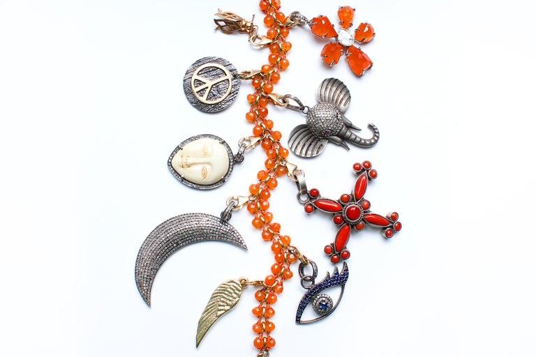 Clarissa Bronfman Signature Onyx, Diamond, Sapphire' Introspective Symbol Tree In New Condition For Sale In New York, NY