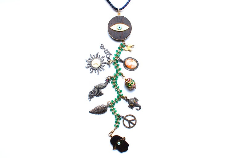 Clarissa Bronfman Signature 'RAINFOREST' Symbol Tree Necklace In New Condition For Sale In New York, NY