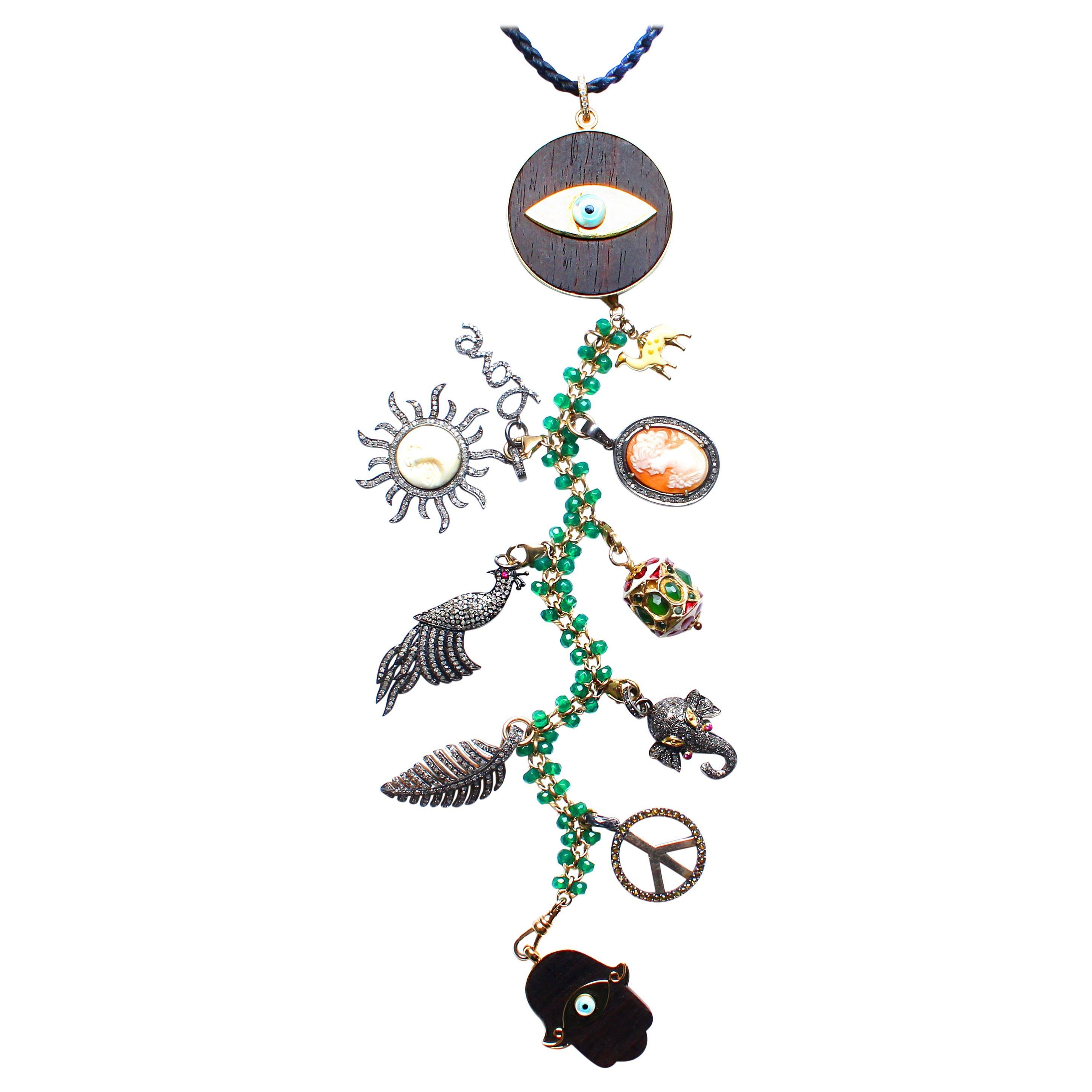 Clarissa Bronfman Signature 'RAINFOREST' Symbol Tree Necklace