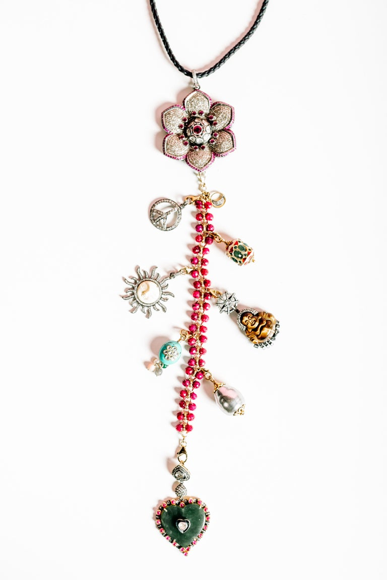 Clarissa Bronfman Signature 'Reine Du Soleil' Symbol Tree Necklace 2