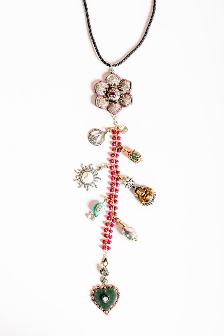 Clarissa Bronfman Signature 'Reine Du Soleil' Symbol Tree Necklace 3