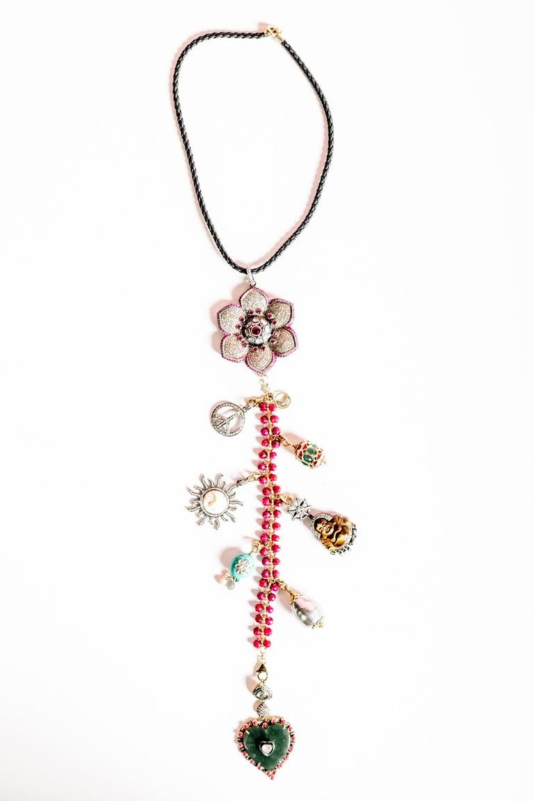 Clarissa Bronfman Signature 'Reine Du Soleil' Symbol Tree Necklace 4