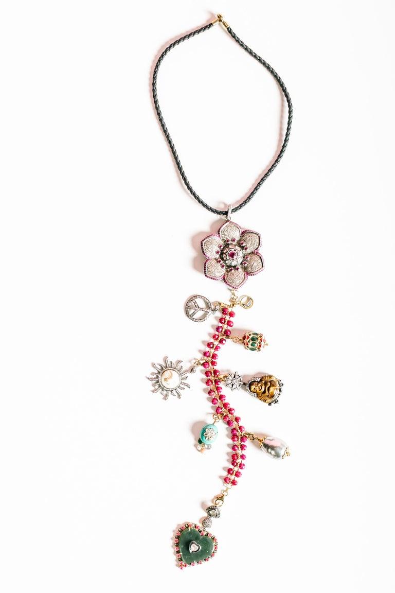 Clarissa Bronfman Signature 'Reine Du Soleil' Symbol Tree Necklace 5