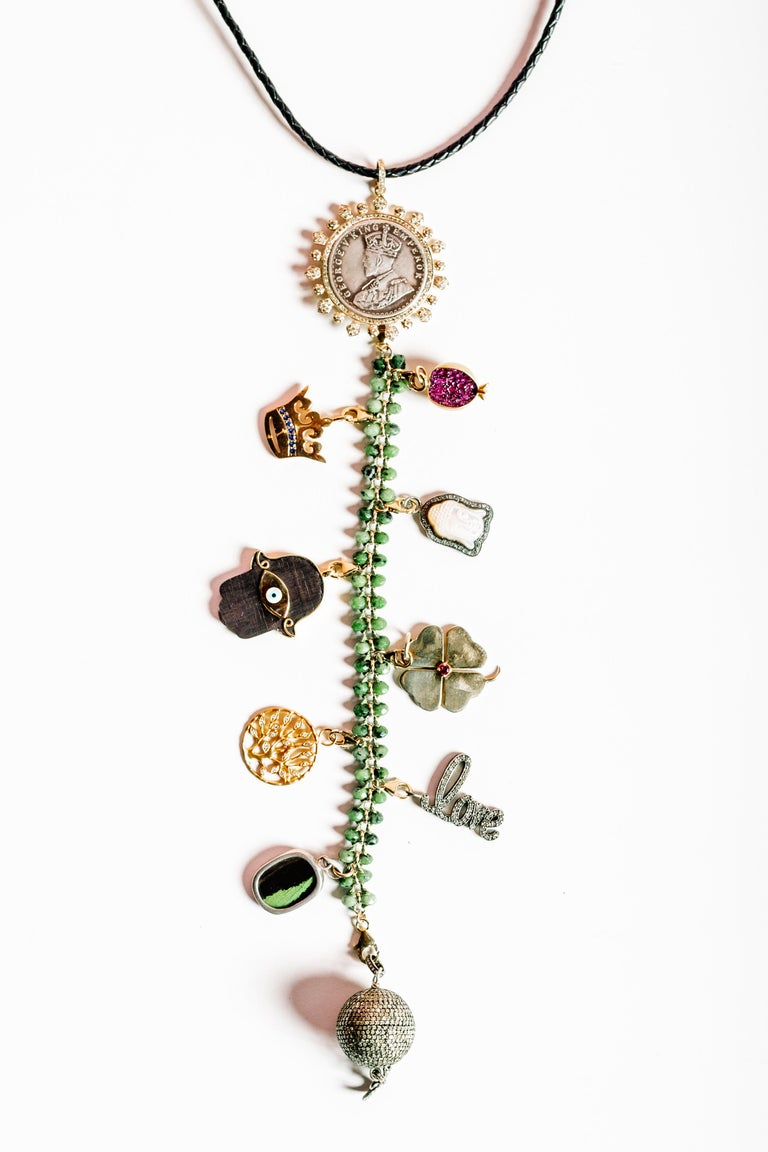 Clarissa Bronfman Signatur Symbol Baum Halskette 2